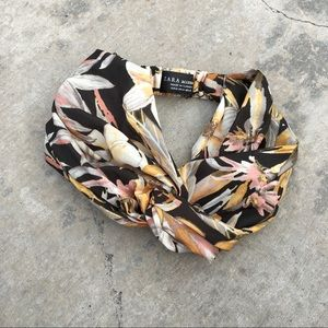 Zara floral turban
